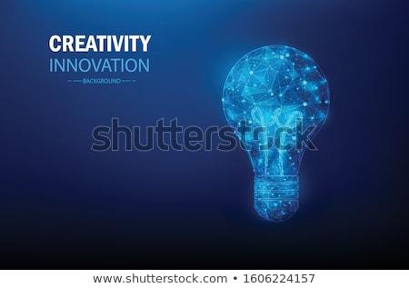 Beyin biçim business network grafik fütüristik Stok fotoğraf © Andrei_