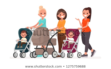Pram with Newborn Little Child Isolated Vector Stock photo © robuart