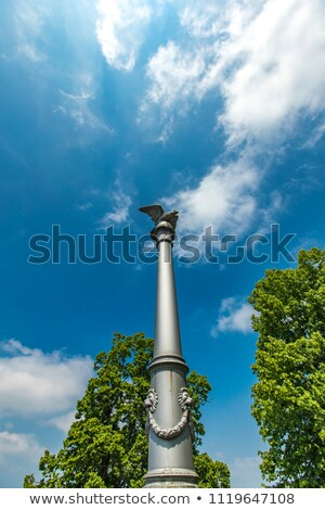 polish freedom pillar at rapperswil castle in switzerland stock photo © boggy