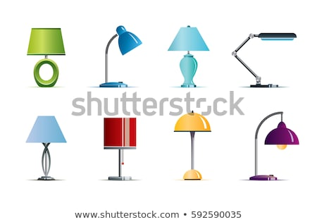 Pink Table Lamp Icon, Lighting Equipment Vector Stock photo © robuart