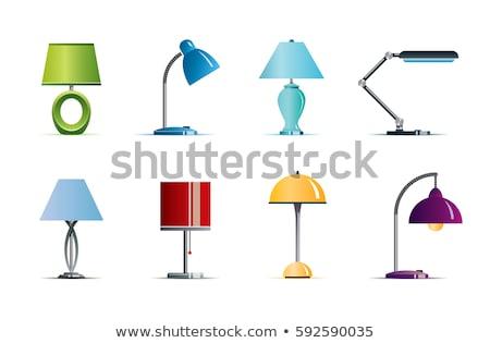 tablo · masa · örtüsü · spot · ışık · lamba - stok fotoğraf © robuart