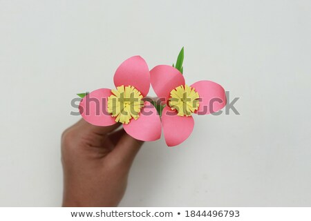 Flower Origami Made of Paper Petals of Blooming Stock photo © robuart