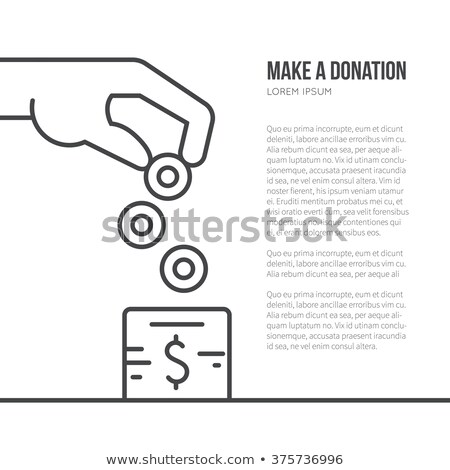 Charity concept - modern line design style illustration Stock photo © Decorwithme