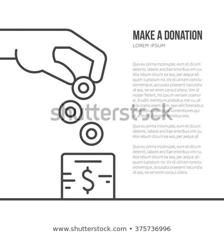 œuvre · de · bienfaisance · modernes · ligne · design · style · web - photo stock © decorwithme