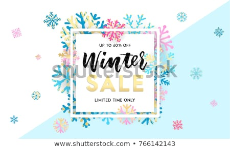 Merry and Bright Winter Offering, Lettering Label Stock photo © robuart