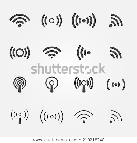 wifi simple icon wireless internet icon vector illustration isolated on white background stock photo © kyryloff