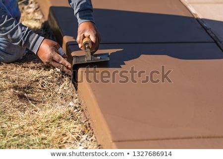建設作業員 ぬれた セメント ツール 建設 プール ストックフォト © feverpitch