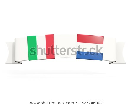 Bandeira dois praça bandeiras Itália Holanda Foto stock © MikhailMishchenko
