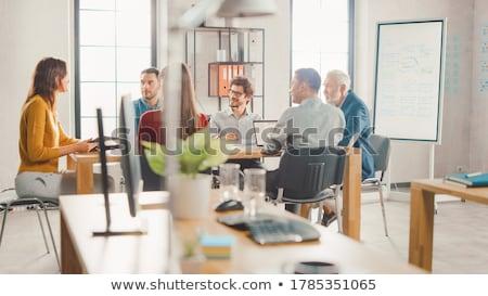 Startup trabalho em equipe reunião gráfico planejamento Foto stock © snowing
