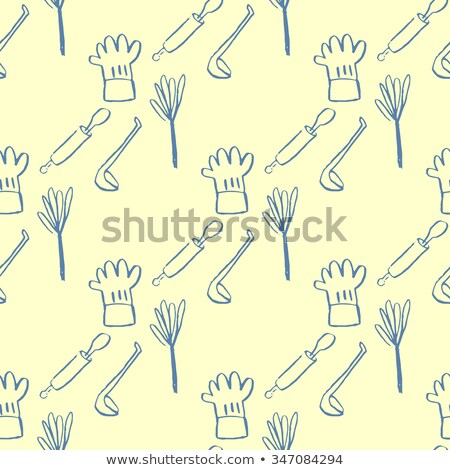 Knife Seamless Pattern Vector. Restaurant Cooking Equipment. Cute Graphic Texture. Textile Backdrop. Imagine de stoc © pikepicture