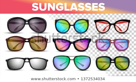 Stylish Color Sunglasses, Trendy Vector 3D Shades Stock foto © pikepicture