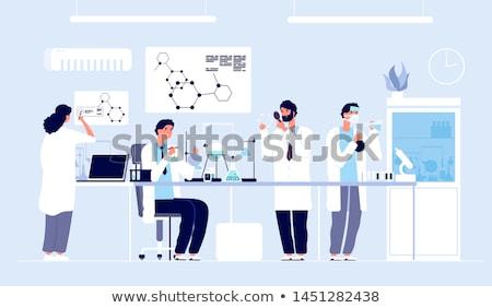 Chemische laboratorium karakter cartoon glas geneeskunde Stockfoto © doomko