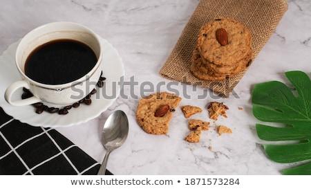 Кубок эспрессо кокосового Cookies пластина конфеты Сток-фото © Melnyk