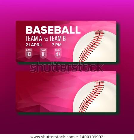 Czerwony wizyta baseball gry szablon Zdjęcia stock © pikepicture