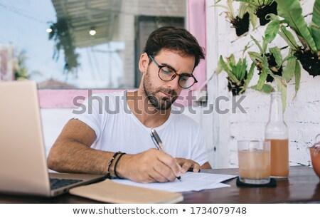 student making notes stock photo © pressmaster