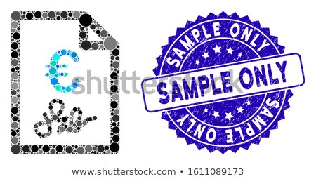 abstract colorful circles invoice template design Stock photo © SArts