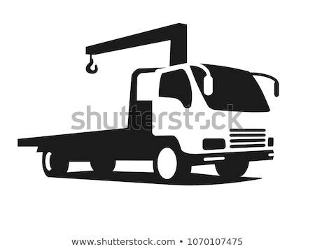 Crane truck vector illustration Stock photo © YuriSchmidt