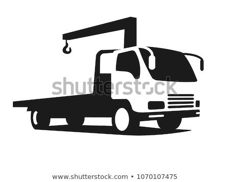 állvány · teherautó · kilátás · oldal · izolált · fehér - stock fotó © YuriSchmidt