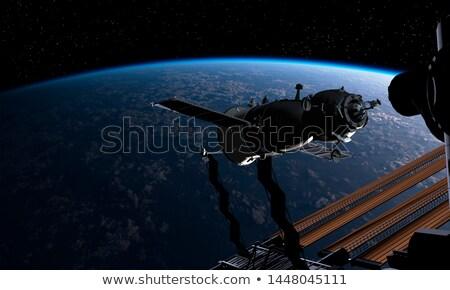 космический · корабль · орбита · земле · небе · закат · фон - Сток-фото © mechanik