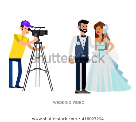 video camera for wedding ceremony vector icon stock photo © pikepicture