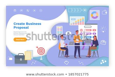 Készít üzlet javaslat csapatmunka weboldal vektor Stock fotó © robuart