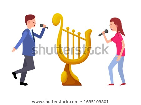 Música torneo oro trofeo arpa vector Foto stock © robuart
