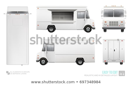 food truck side view on white stock photo © yurischmidt