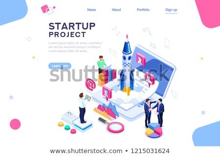Startup novo negócio projeto teia pessoas Foto stock © robuart