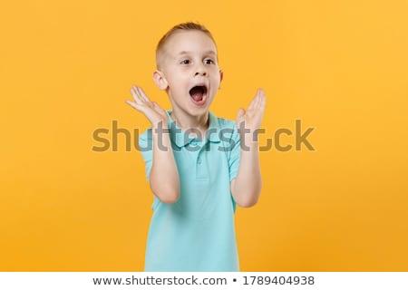 Adorable 5 años nino retrato agua sonrisa Foto stock © Lopolo