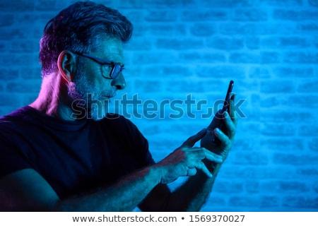 altos · empresario · teléfono · celular · negocios · hombre · tecnología - foto stock © boggy