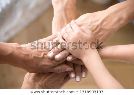Közelkép idős nő kezek manikűr szépség Stock fotó © dolgachov