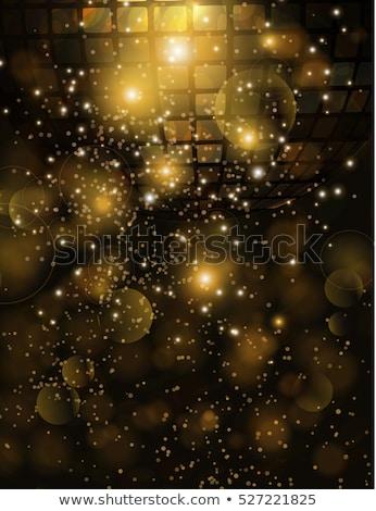 Disco ball wazig poster retro licht ontwerp Stockfoto © dashapetrenko