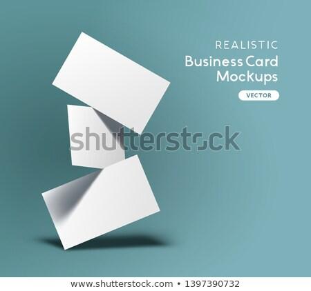 Flutuante vetor azul marca Foto stock © solarseven