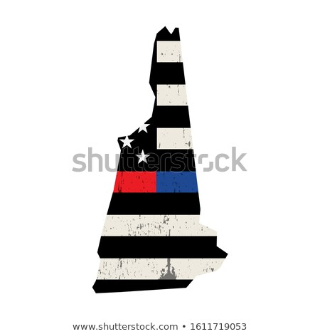 State of New Hampshire Firefighter Support Flag Illustration Stock photo © enterlinedesign
