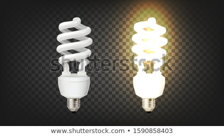 Compact Fluorescent Lamp Corkscrew Type Vector Stock photo © pikepicture