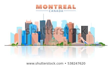 Soyut Montreal ufuk çizgisi renk binalar Stok fotoğraf © ShustrikS