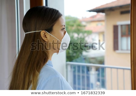 Woman Isolated On Coronavirus Quarantine Stock photo © AndreyPopov