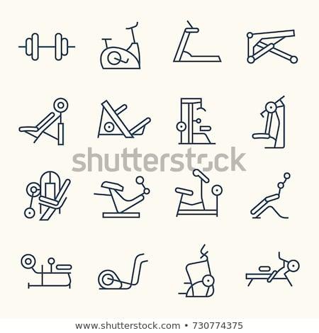 Gewichtheffen machine icon vector schets illustratie Stockfoto © pikepicture