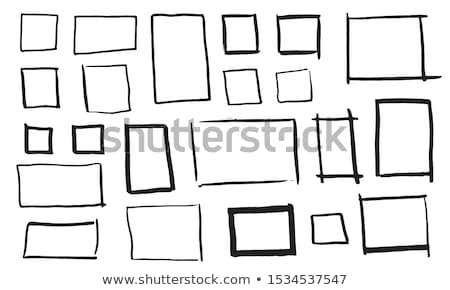 Ingesteld rechthoekig ontwerp abstract kind Stockfoto © SArts