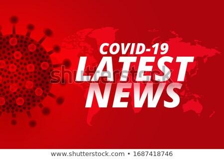 Koronavírus hírek vakcina szalag terv egészség Stock fotó © SArts