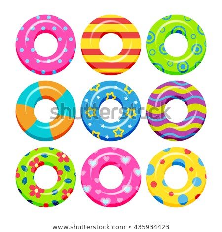 Lifebuoy Equipment For Swimming In Pool Set Vector Stock photo © pikepicture
