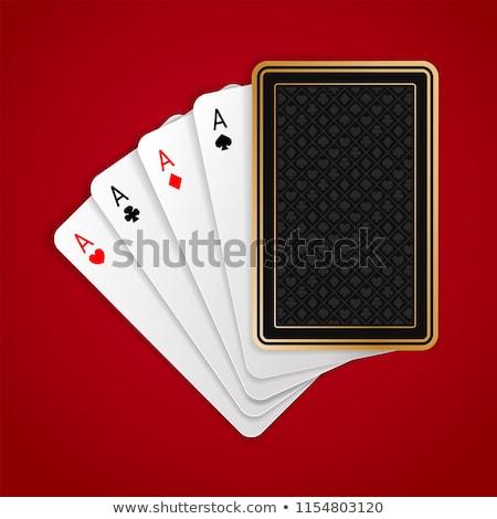 Establecer póquer combinación sombra gris cara Foto stock © evgeny89