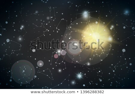Realistic night sky with many stars, constellations and lens flare Stock photo © evgeny89