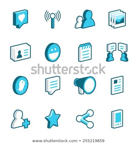 Podcast radio isometrische vector collectie Stockfoto © pikepicture