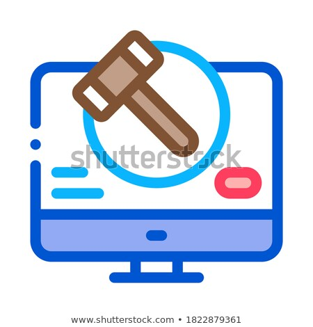 computer version of auction icon vector outline illustration Stock photo © pikepicture