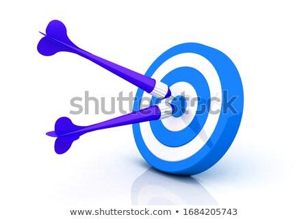 violate darts on blue target Stock photo © 4designersart