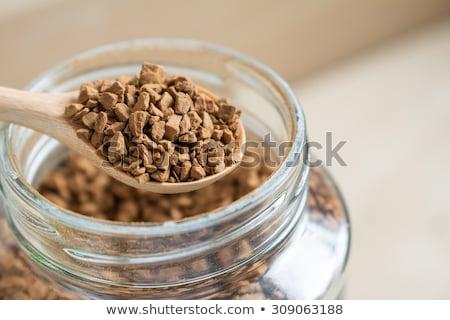 ложку · растворимый · кофе · кофе · ретро-стиле · копия · пространства · кофе - Сток-фото © leeser