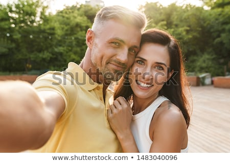 Couple taking romantic stroll in the park stock photo © photography33