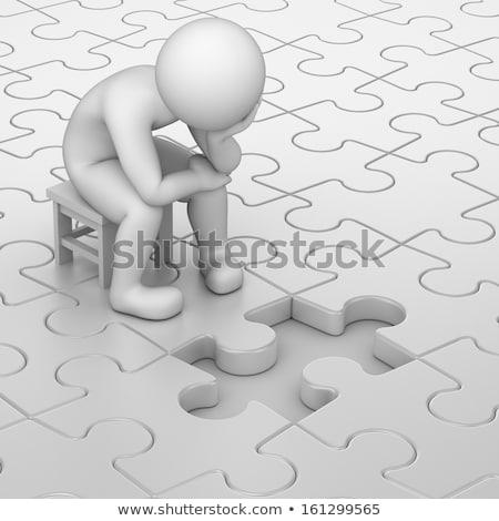 puzzle · mani · isolato · bianco · business - foto d'archivio © volksgrafik