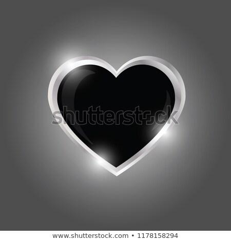Stock photo: Valentine-Silver Heart